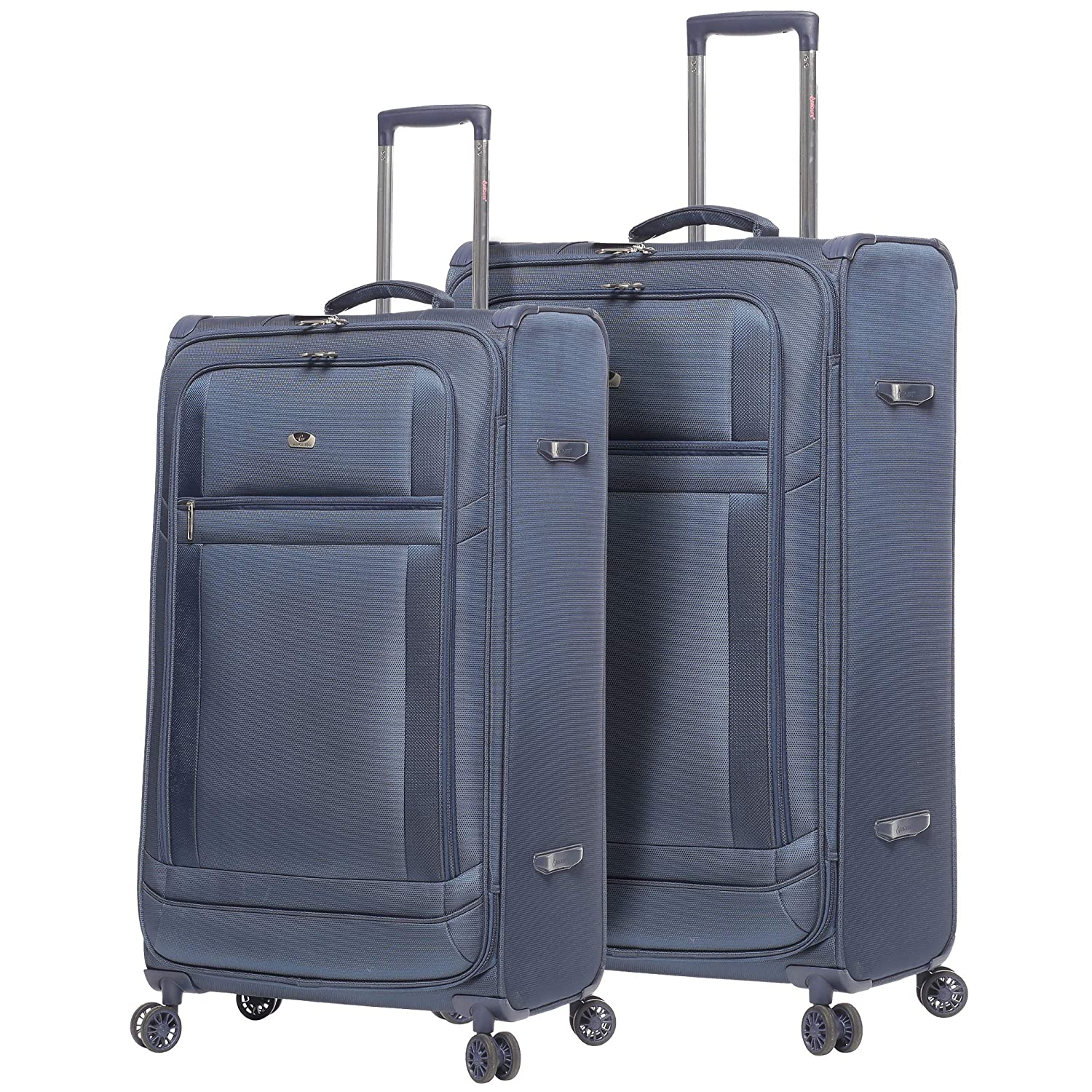 Lightweight Large Luggage Sets 2 piece 32inch 29 inch , Reinforced  Suitcases Set (Navy)