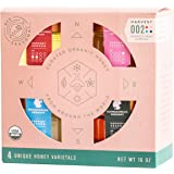 Bee Seasonal - Harvest 002 - Certified Organic & Raw Honey Gift Set - 4 x 4 Ounces