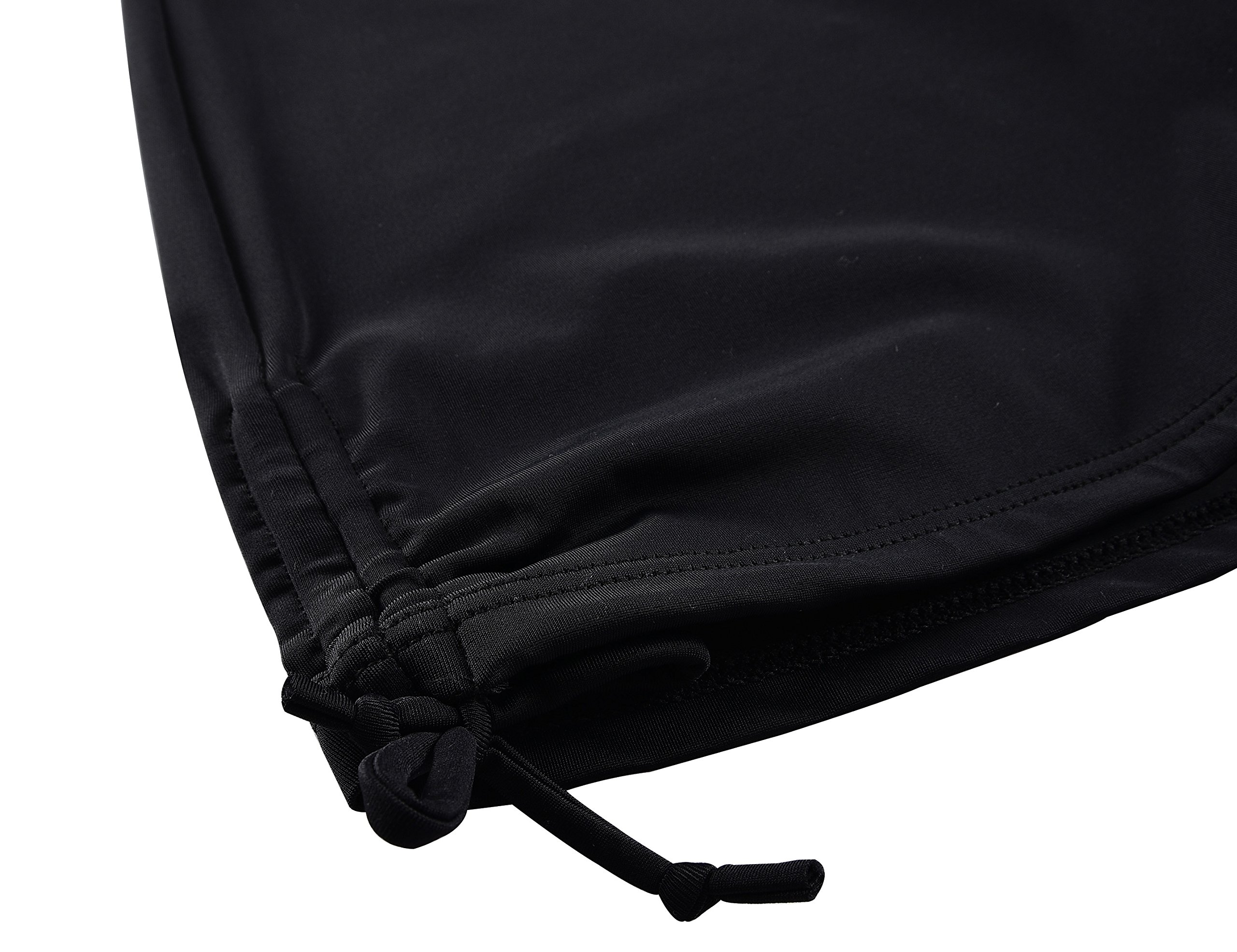 Septangle Womens Black Swim Sports Board Shorts Bottom with Side Ties,US 14 by Septangle (Image #4)