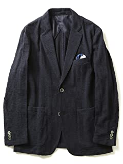 Seersucker Jersey Jacket 51-16-0224-012: Navy