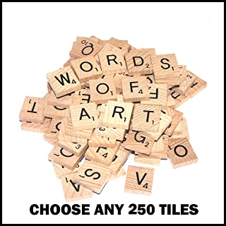 250 Wooden Word Game Letter Alphabetical Tiles of Your Choice (pick 'n' mix) Pick your own Letters