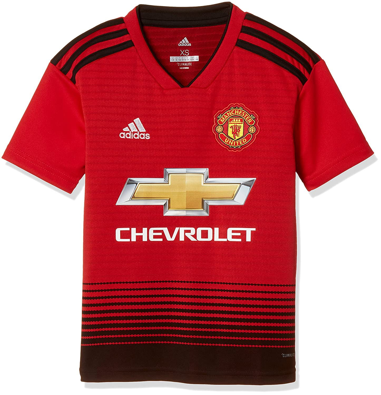 Adidas Unisex Kinder Shorts 18 19 Manchester United Home