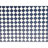 MELODY Jane Casa de muñecas azul marino y Blanco Efecto Mosaico Papel Miniatura 1:12 Suelo DIAGONAL
