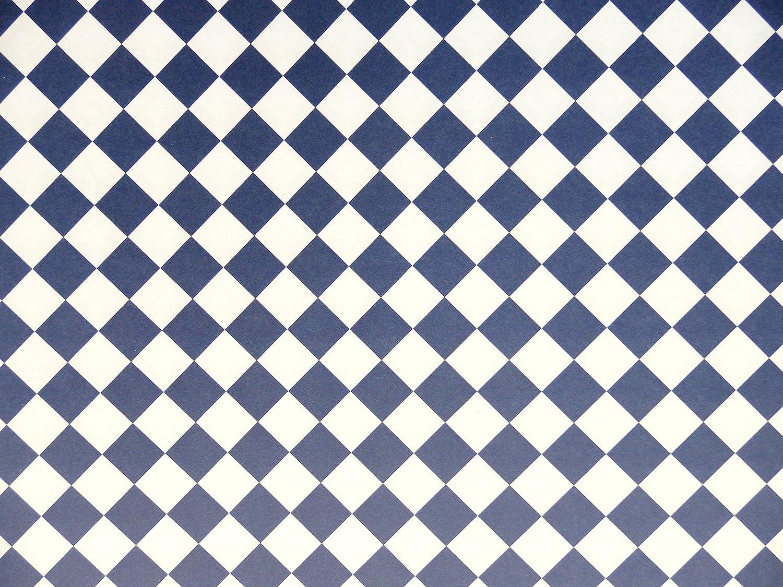 Melody Jane Puppenhaus Marineblau Wei/ß Fliesen Effekt Papier Miniatur 1:12 Bodenbelag Diagonale