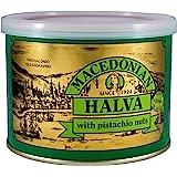 Macedonian Halva Greek Halva with Pistachio Nuts Net Weight 500gr tin can