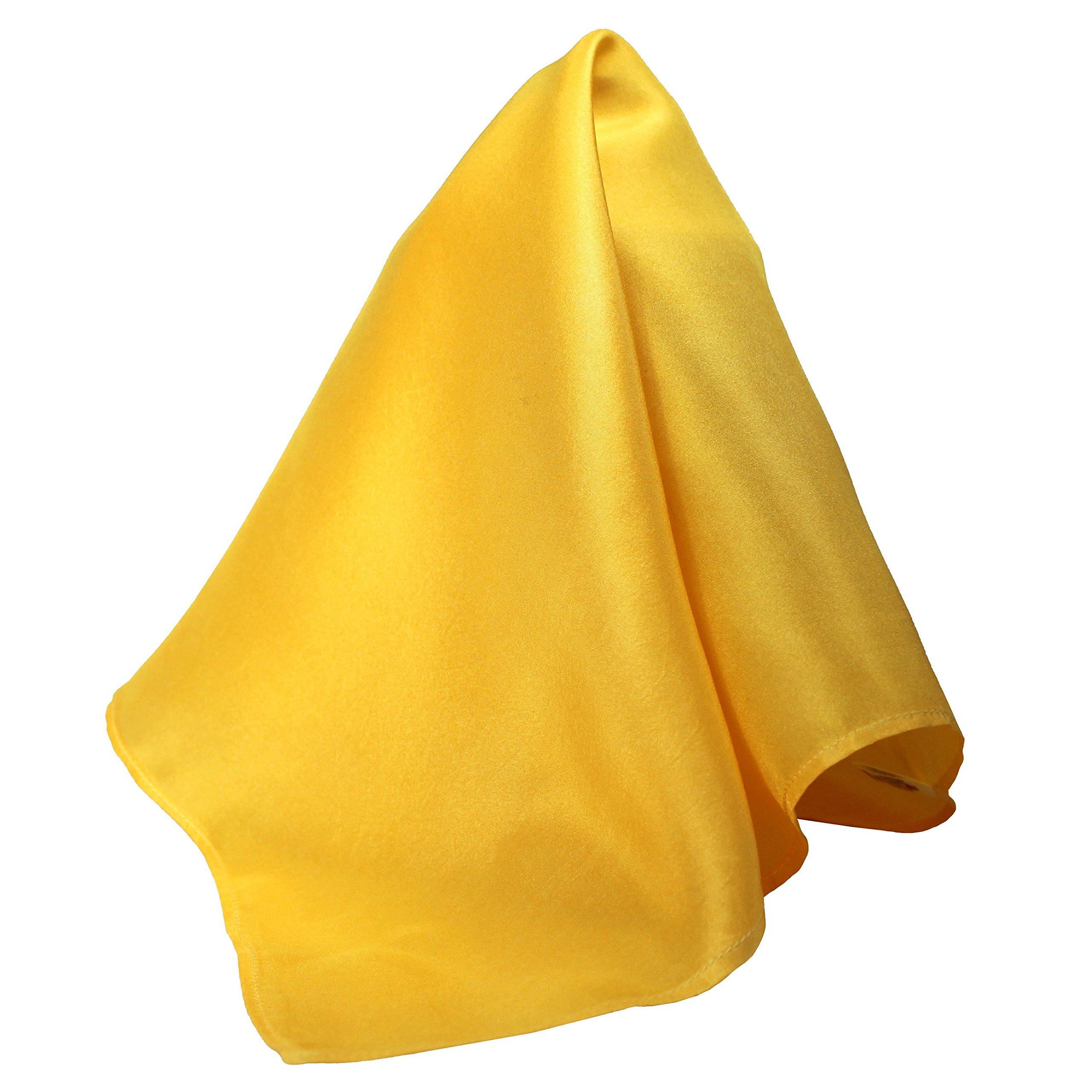Fine Mango Silk Pocket Square - Full-Sized 16''x16'' by Royal Silk (Image #1)