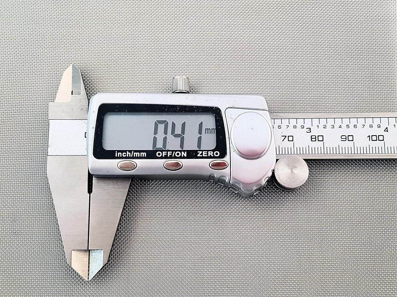 Inoxia Ltd - Grillage Mé tallique En Acier Inoxyable 304L, 40 Maille, Ouverture De 0,41mm, Taille: é chantillon simple Taille: échantillon simple