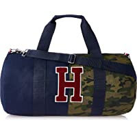 Tommy Hilfiger Unisex Iconic Shane Camo Canvas Duffle Bag Iconic Shane Camo Canvas Duffle Bag, Navy Blazer/Multi, One Size