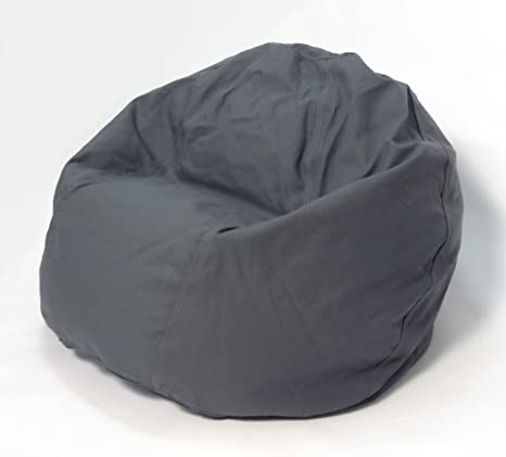 Peachy Bean Products Comfy Bean Beanbag Small Cotton Gray Made In Usa Ncnpc Chair Design For Home Ncnpcorg