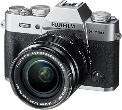 Fujifilm X-T20 Mirrorless Digital Camera W/Xf18-55Mmf2.8-4.0 R Lm OIS Lens - Silver Point & Shoot Digital Cameras at amazon