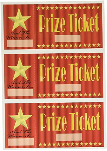 Prize Tickets 30 Pkg Kitchen Dining