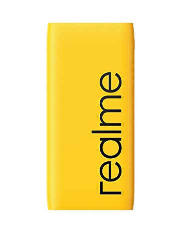 [Apply coupon] realme 10000mAh 12W Quick Charge Li-Polymer Power Bank 2i (Yellow, Slim Design, Dual Input Ports)