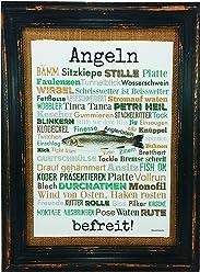 Angeln befreit! Druck Poster A4 Geschenk AnneSvea Typo Deko Angler Fische Fischer Rute Verein Anglerheim