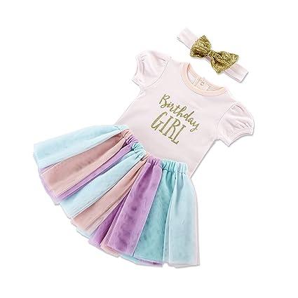 Baby Aspen Mi Primer cumpleaños de 3 Piezas del Arco Iris ...