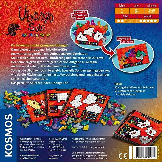 Kosmos 694203 - Juego de Tablero (Puzzle Board Game, Niños, Niño/niña, 8 año(s), 50 Pieza(s), 252 mm): Reijchtman, Grzegorz: Amazon.es: Juguetes y juegos