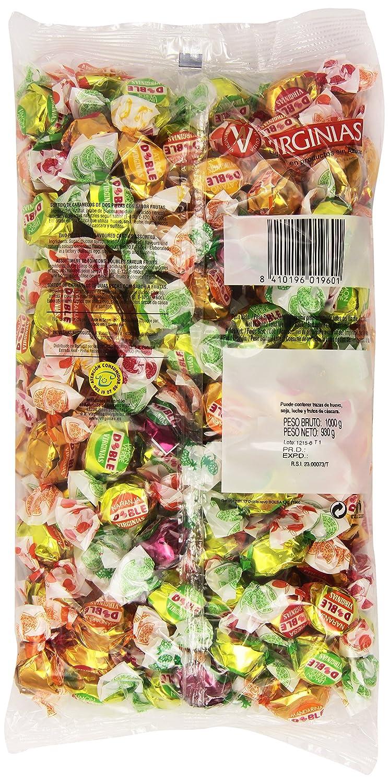 Virginias - Doble - Surtido de caramelos de dos piezas con sabor de frutas - 930 g: Amazon.es: Alimentación y bebidas