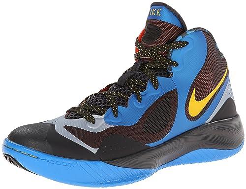 9906f952fa40 Nike Men s Zoom Hyperfranchise XD Basketball Shoe Blue Platinum Yellow Size  10.5