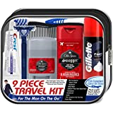 Convenience Kits Men's Deluxe, Man On the Go, 9 Count Travel Kit, Featuring: Old Spice Products