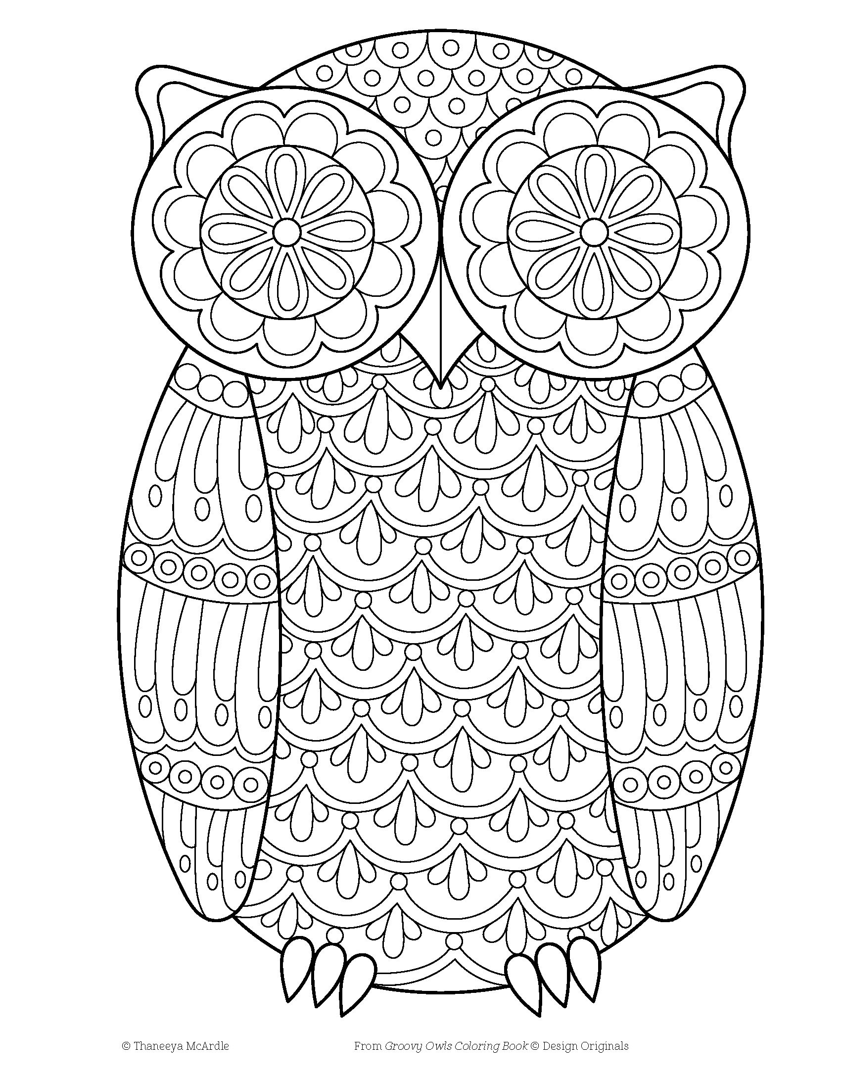 Amazon Groovy Owls Coloring Book Coloring Is Fun Design