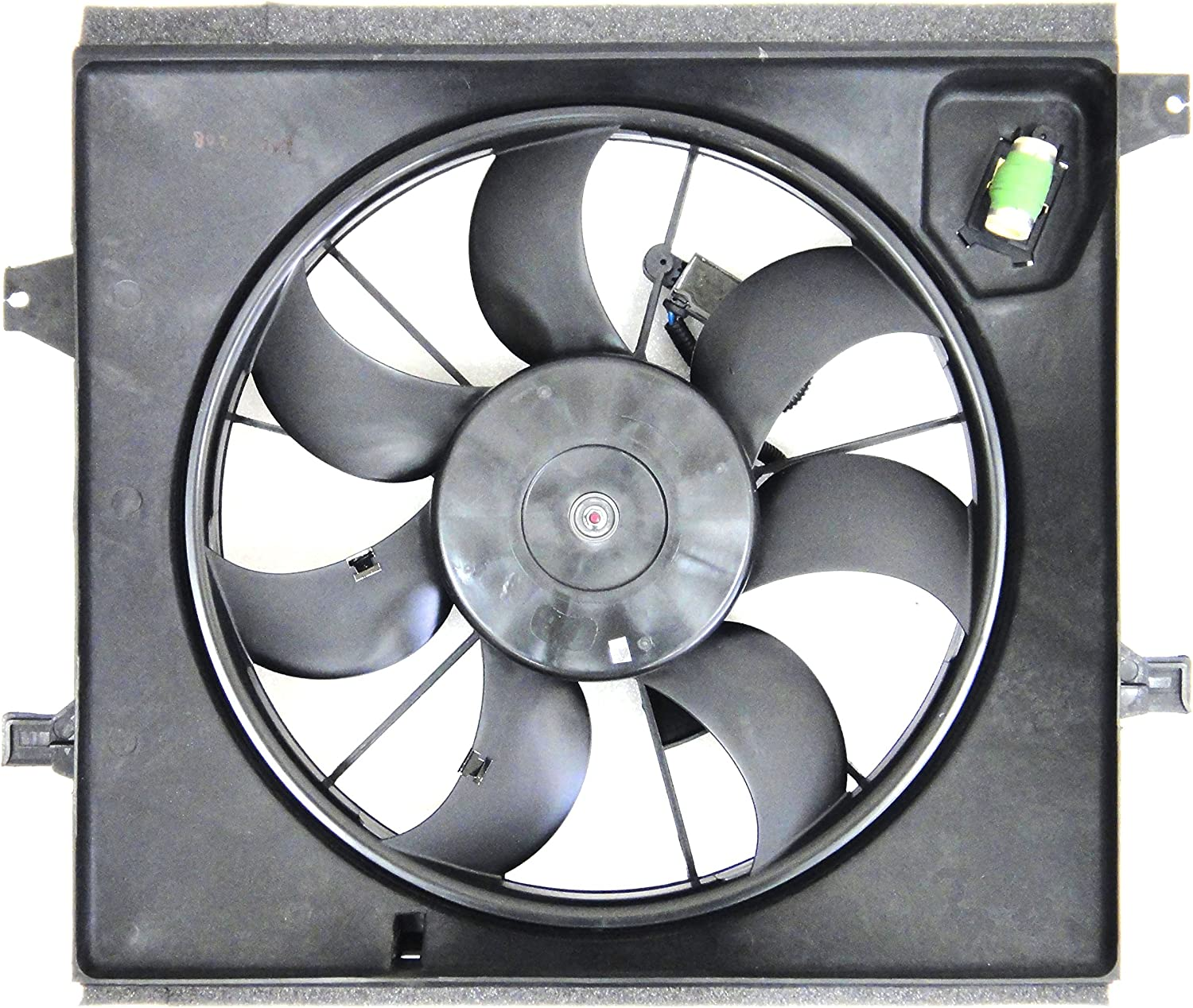 Depo 323-55026-000 Radiator/Air Conditioner Fan Assembly (KIA SOL 1.6L 10-11 ASSEMBLY)