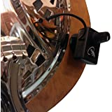 DOBRO ROUND NECK RESONATOR GUITAR PICKUP with FLEXIBLE MICRO-GOOSE NECK by Myers Pickups ~ See it in ACTION! Copy and paste: myerspickups.com, Resonator Guitar Pickup