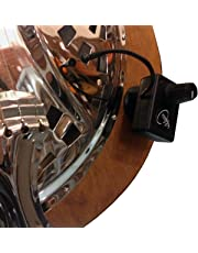 DOBRO SQUARE NECK RESONATOR GUITAR PICKUP with FLEXIBLE MICRO-GOOSE NECK by Myers Pickups