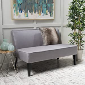 Christopher Knight Home Charlotte Light Grey Fabric Love Seat