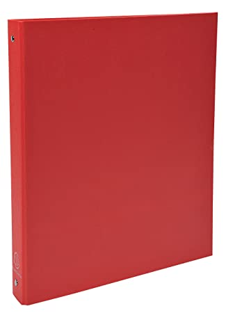 Exacompta 51375E - Carpeta forrada polipropileno 4 anillas, 30 mm, A4, rojo: Amazon.es: Oficina y papelería