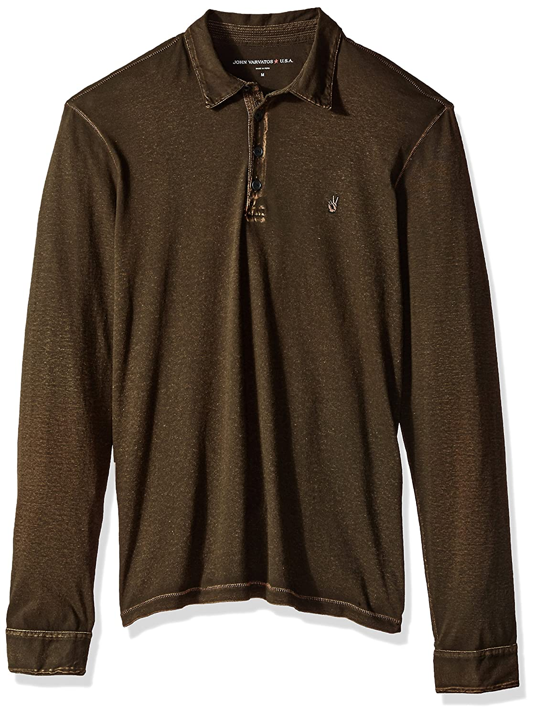 John Varvatos Men's Long Sleeved Polo Aqp4b 205 K3347T3BAQP4B