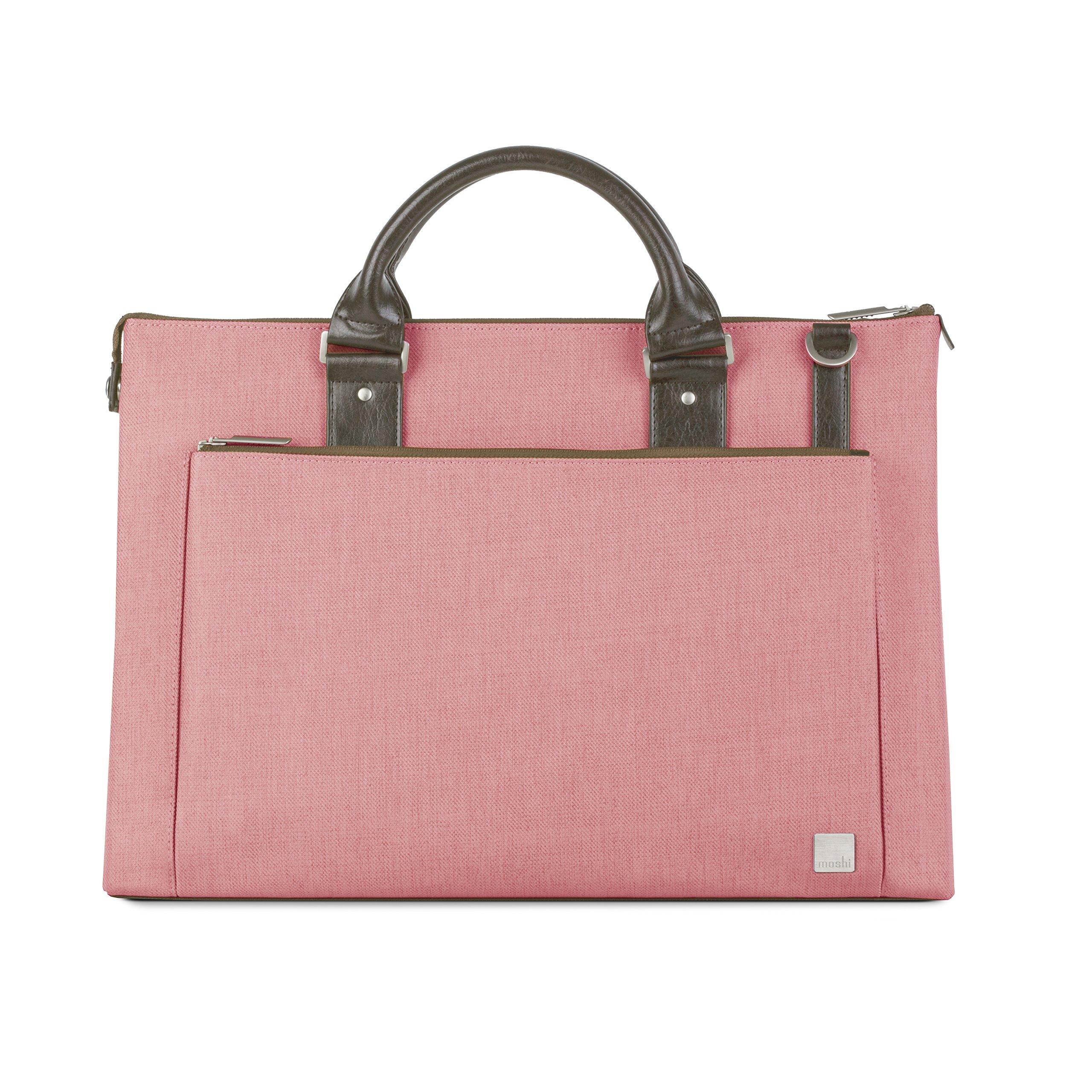 Moshi Urbana Laptop Shoulder Bag - Pink by Moshi