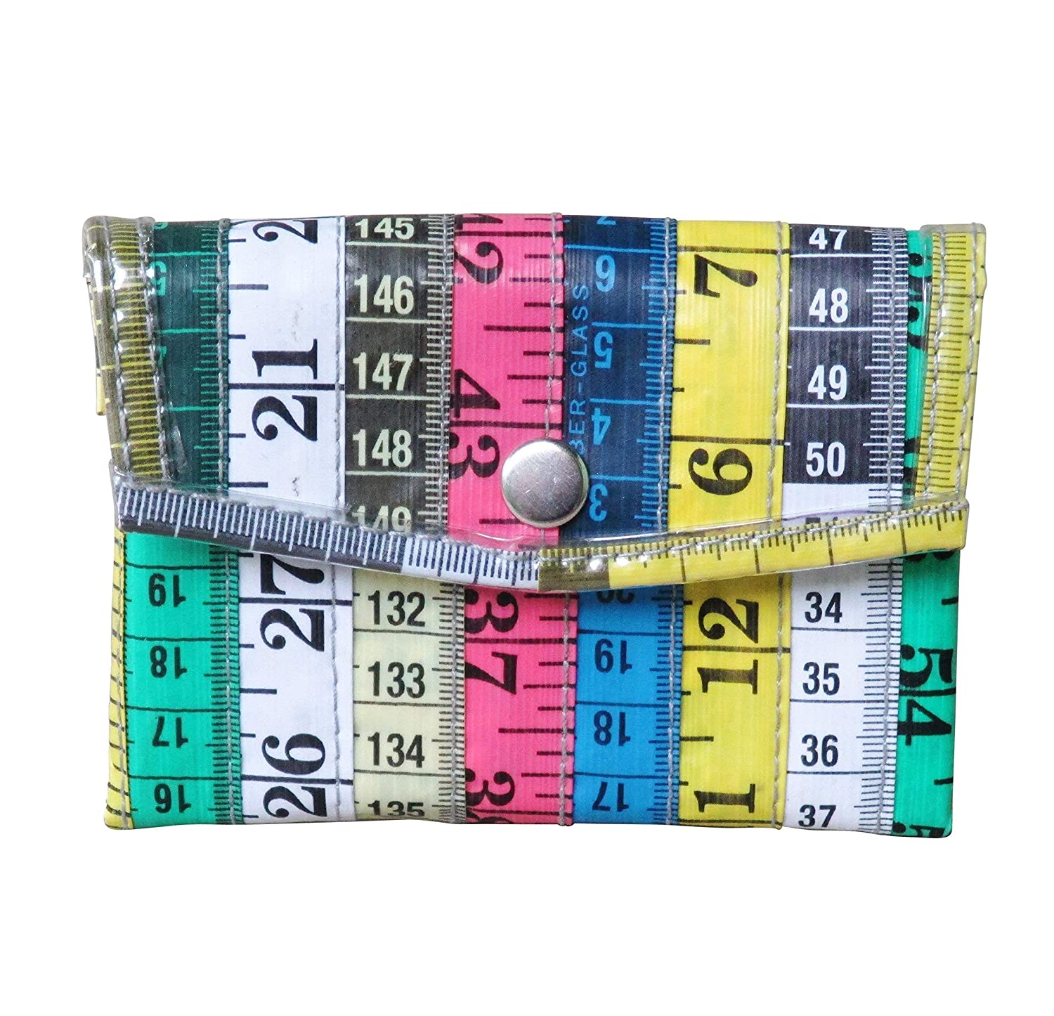 Amazon Com Large Snap Coin Purse Made From Measuring Tape Gifts For Knitter Sewer Fashion Designer Clothing Design Student Teacher Sewing Hobby Tapes Measure Handmade Art Bag Wallet Coiner Pouch Box Prime
