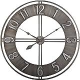 "Studio Designs Home 73003 Industrial Loft Metal Decor Wall Clock, Steel, 30"""