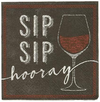 Amazon.com: 16 Vino vidrio, SIP SIP Hooray Fiesta de ...