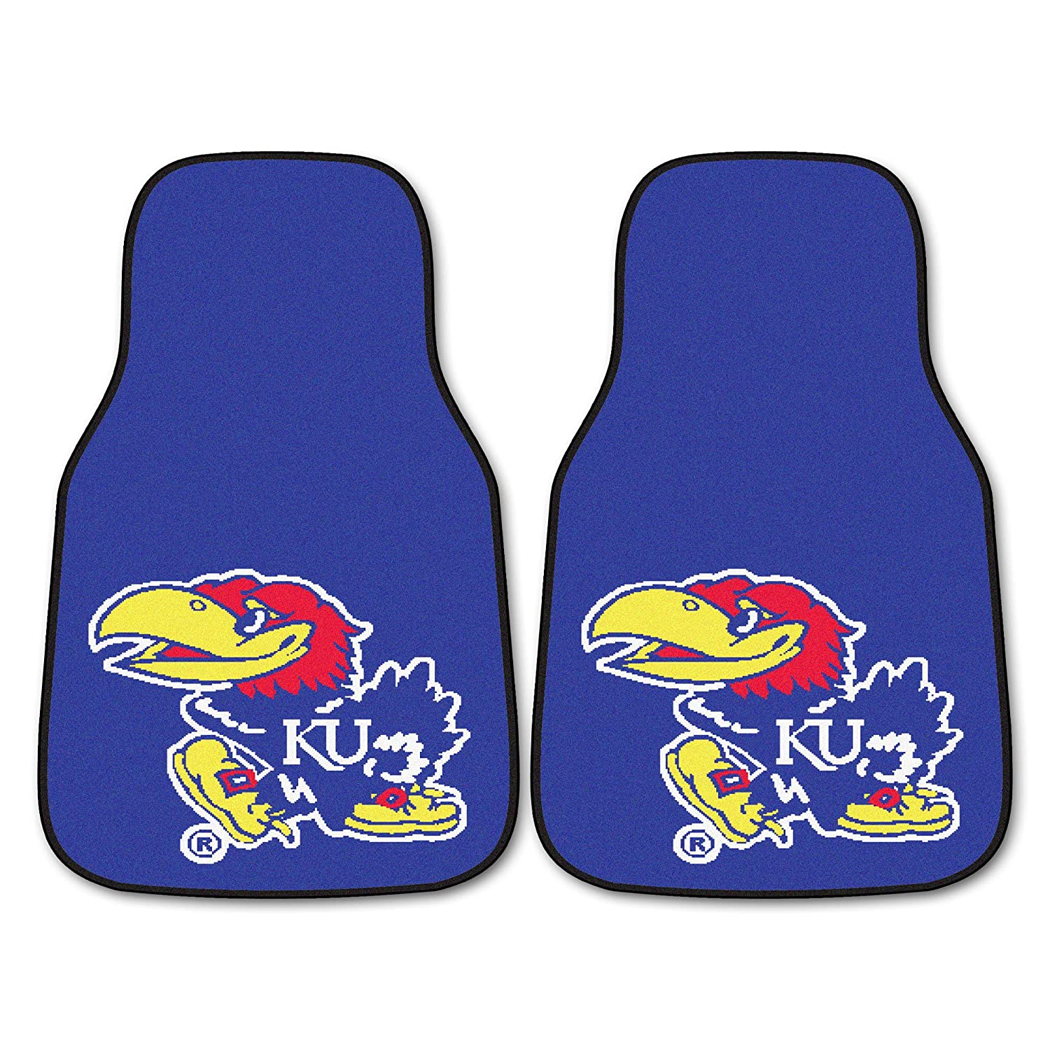 FANMATS NCAA University of Kansas Jayhawks Nylon Face Carpet Car Mat 5450