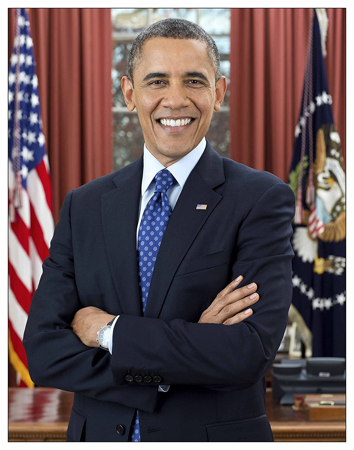 In the Oval Office Wall Art Print ~ BARACK OBAMA Official Presidential Photo 8/×10 print