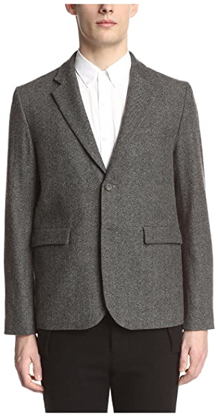 Amazon.com: Robert Geller Hombre Blazer, Gris: Clothing