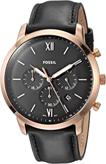 bfba11ec2481 Amazon.com  Fossil Men s Grant Quartz Stainless Steel and Leather ...