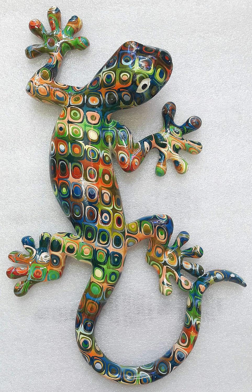 Salamandre en R/ésine Grand Mod/èle Ambiance sud D/écoration Murale en R/ésine