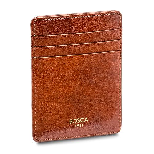 Amazon.com: Bosca Old piel Deluxe bolsillo frontal cartera ...