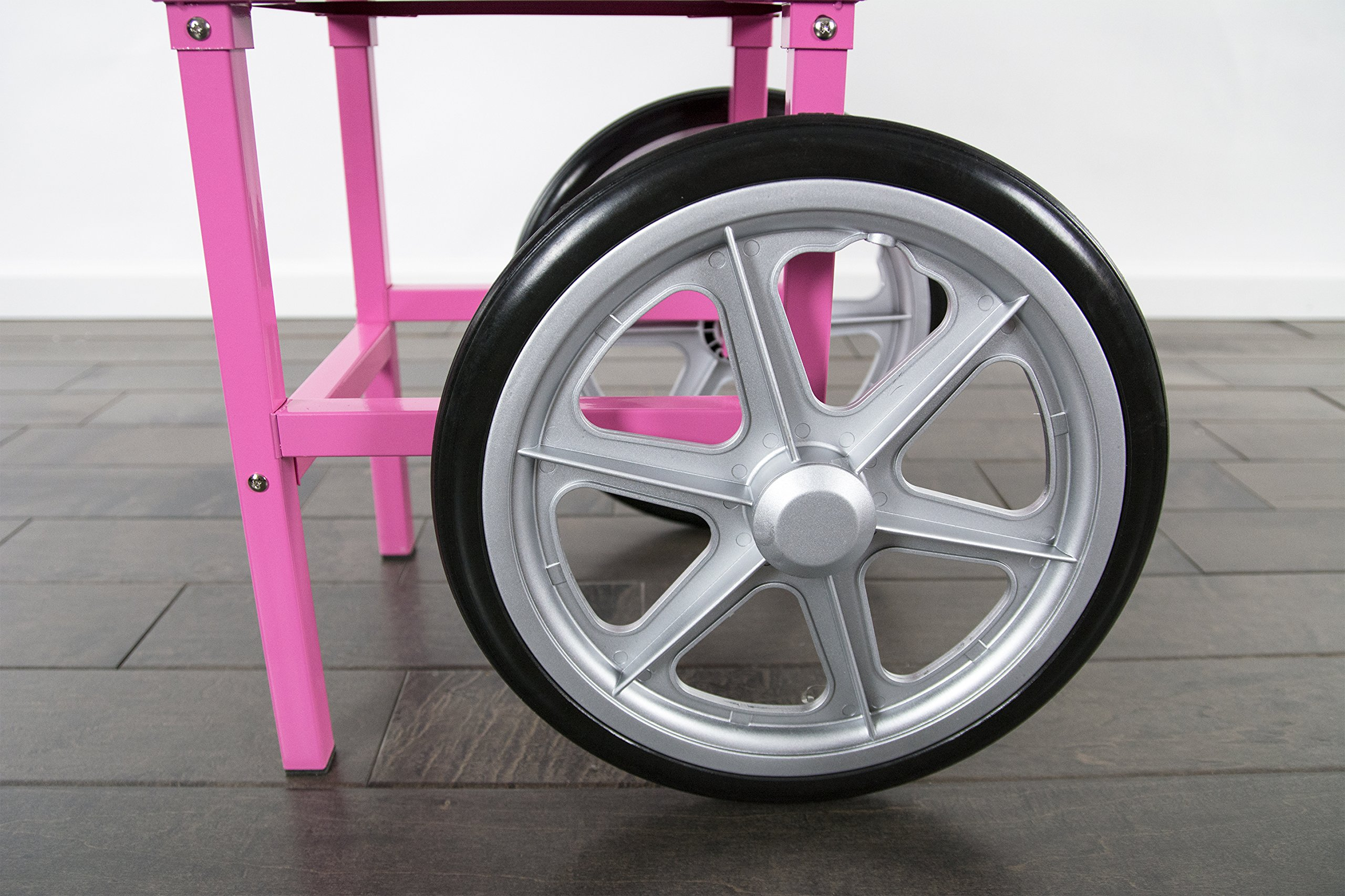 Electric Commercial Cotton Candy Machine / Candy Floss Maker Pink Cart Stand VIVO (CANDY-V002) by VIVO (Image #5)