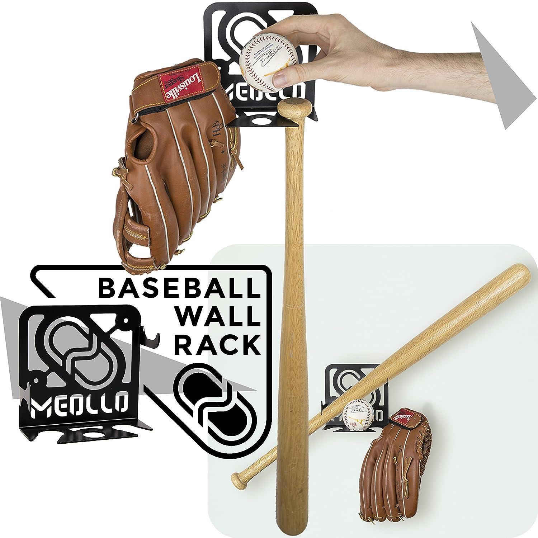 Soporte colgador para bate de baseball pared MEOLLO Hab/BaseballRack/White