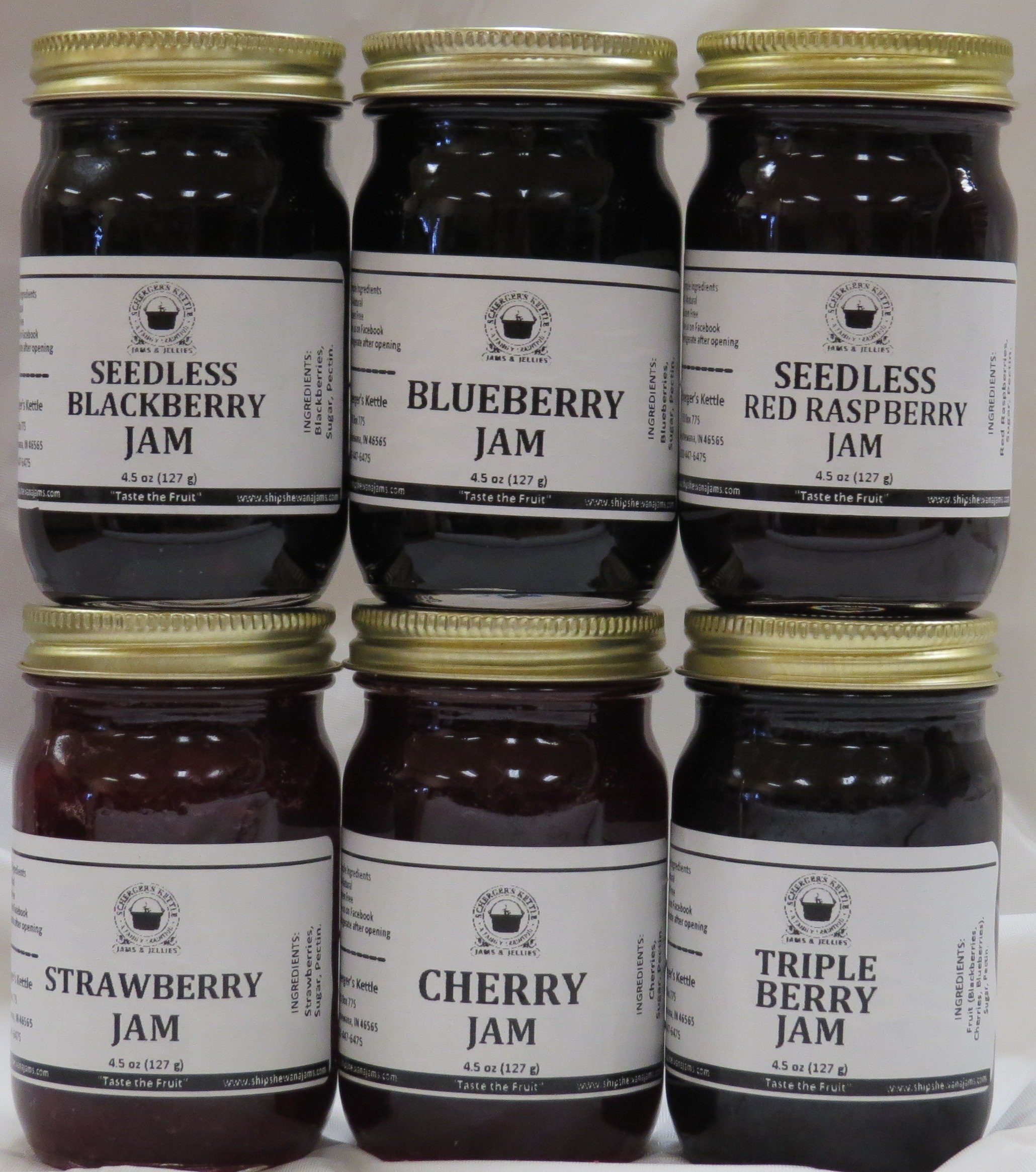 Our Berry Favorites Gift Box (6-4.5 oz jars in a gift box)