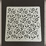 Floral swirl Cookie stencil - cupcake designs for air brush - Royal icing
