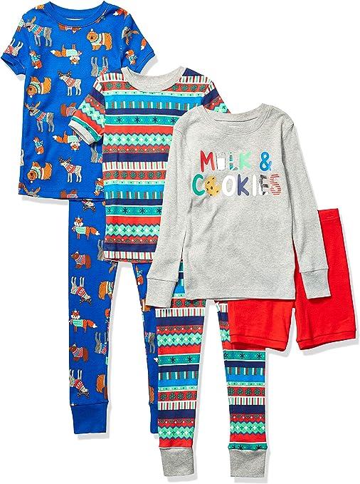 pajama-sets Unisex Bambini 6-piece Snug Fit Pajama Set Marchio Spotted Zebra