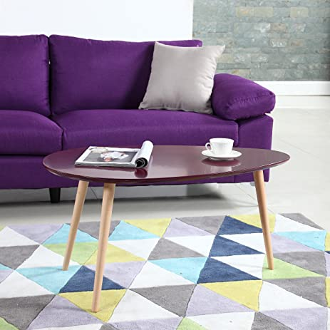 Amazoncom Mid Century Modern Colorful Coffee Table Purple