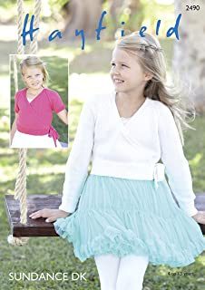 fe539ecfd7a2 King Cole Girls Ballet Top Cardigans Embrace Knitting Pattern 4587 ...
