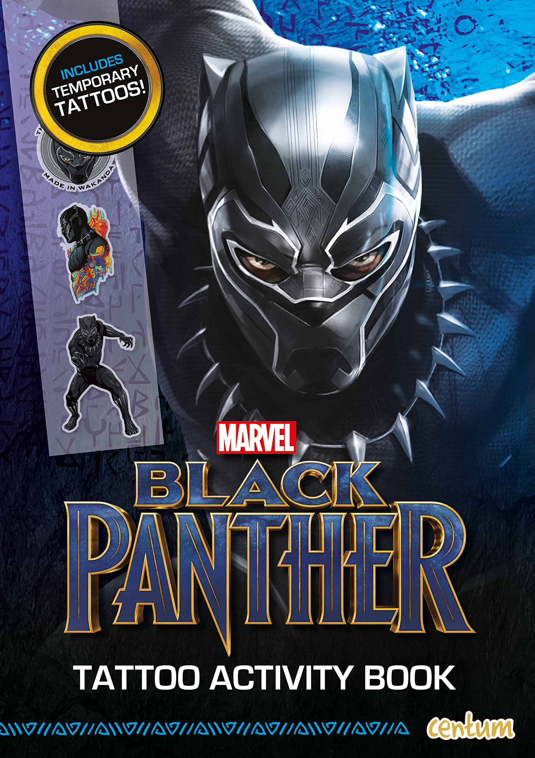 Black panther tattoo activity book paperback january 18 2018