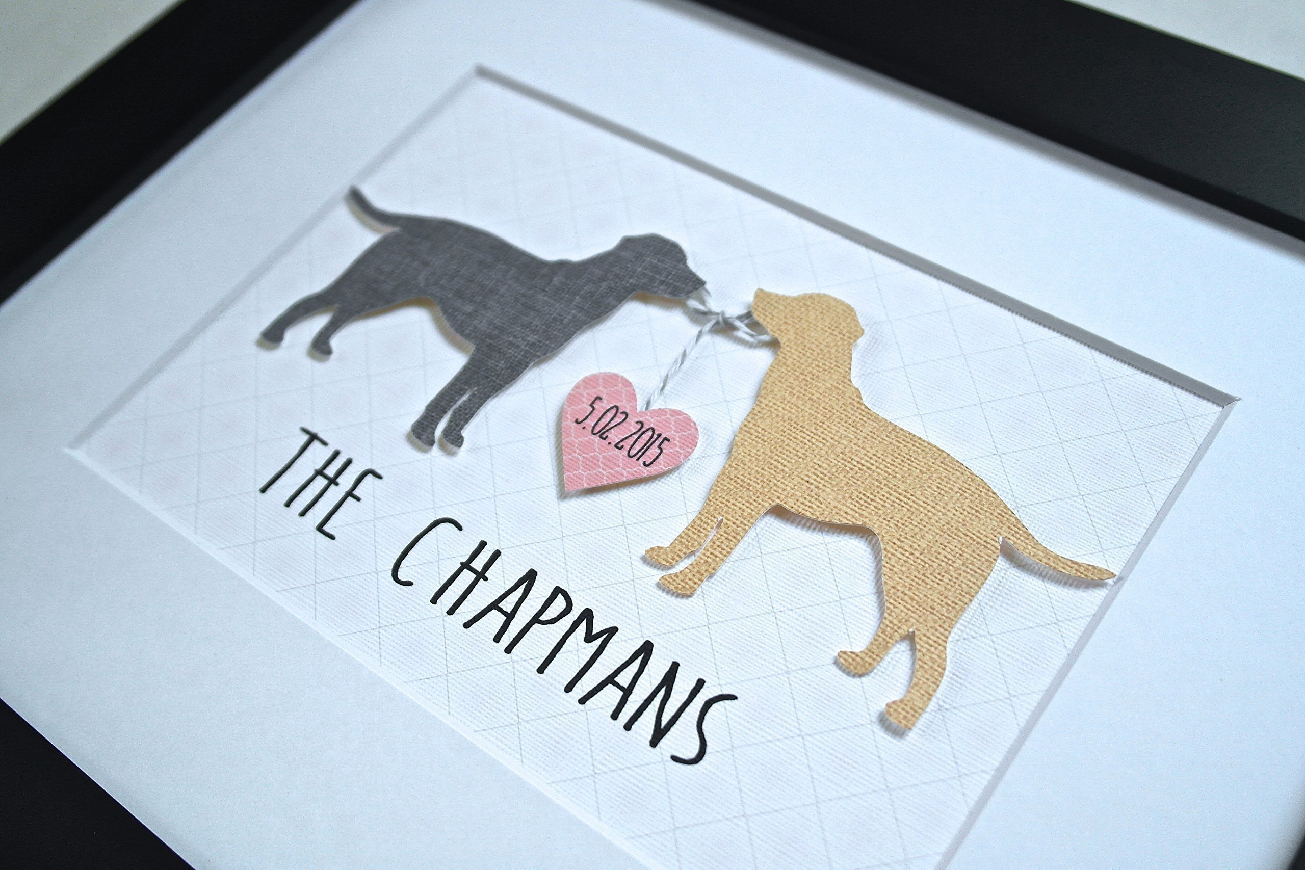 Perfect Gift For Dog Lovers! 3D Custom Dog Art - ANY BREED and COLORS! - Unique Wedding Gift