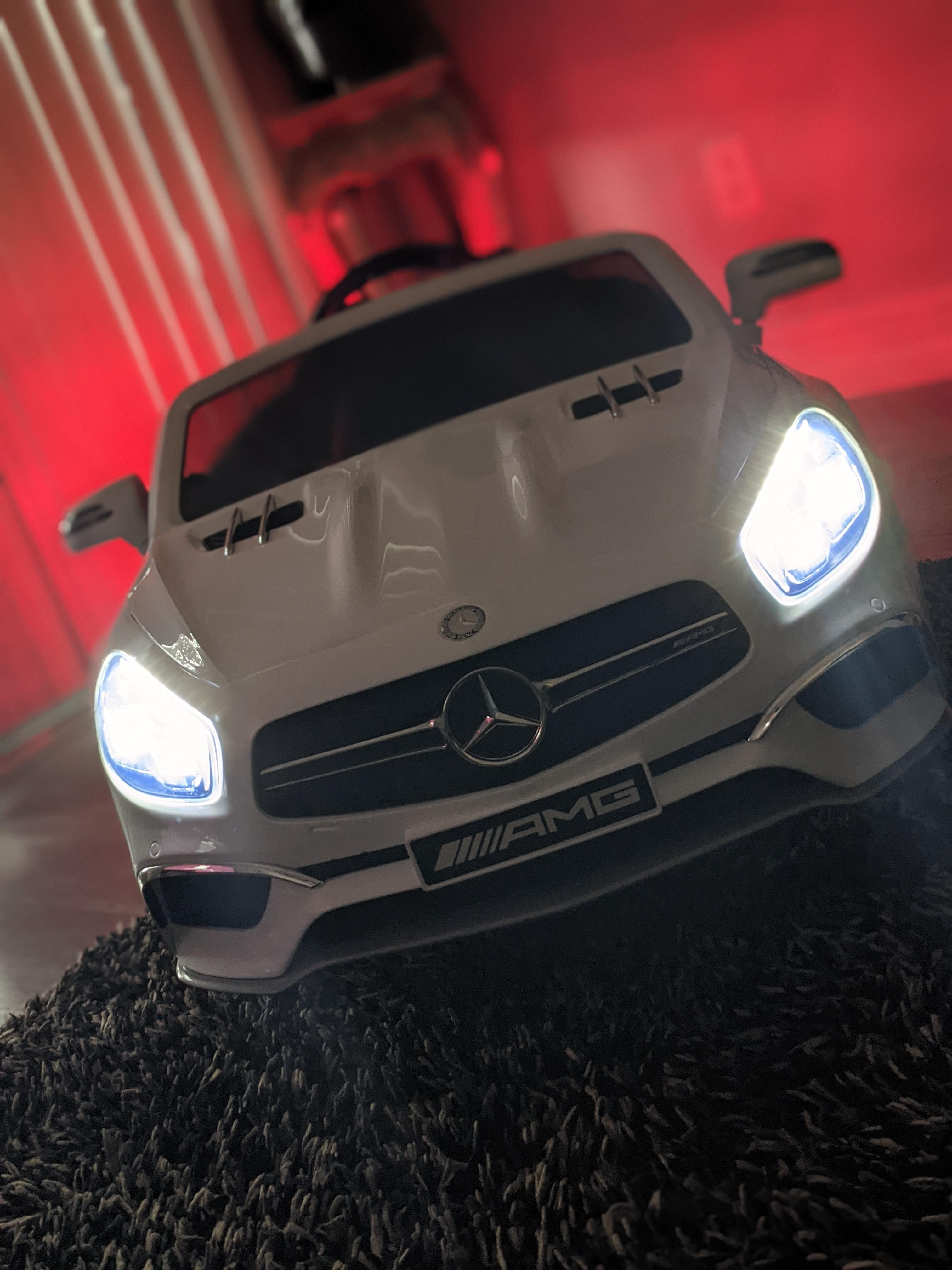 12V Mercedes Benz 2 Seater Kids Power Wheels With Remote, White photo review