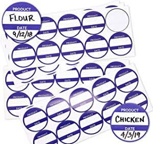Juvale 500-Count 3 Inch Product Date Storage Label Stickers for Refrigerator, Restaurant, and Freezer Food